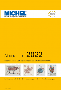 MICHEL Europa Katalog E1 Alpenländer  2020 Briefmarkenkatalog