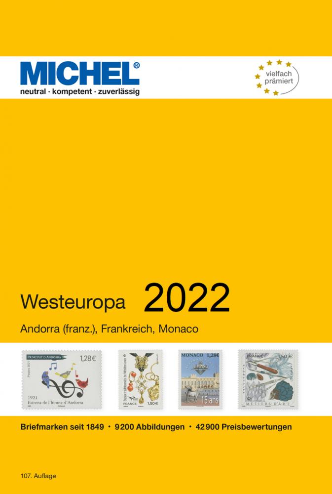 MICHEL Europa Katalog  E3 Westeuropa 2021 Briefmarkenkatalog