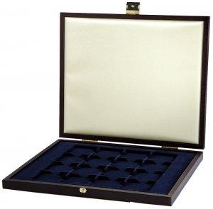 Münzkassette 270x230x29 Holz für 16 Münzen 46mm