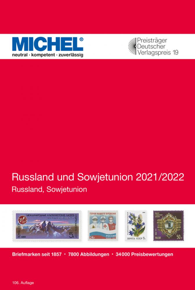 MICHEL Europa Katalog E16 Russland und Sowjetunion 2020 2021 Briefmarkenkatalog