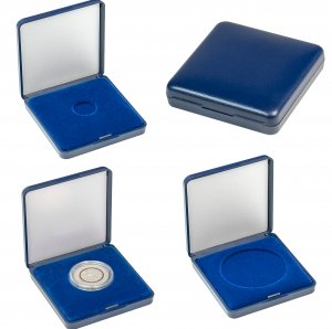 Münzetui  70x70x15 für Münzen von 18 bis 50mm Lindner 2029
