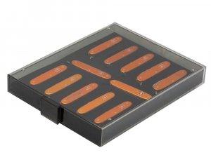 LINDNER Sammelbox für 12 schweizer Taschenmesser 93mm VICTORINOX* Pioneer Farmer Lindner 2475