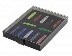 Sammelbox für 12 schweizer Taschenmesser 84mm z.B. VICTORINOX* Cadet Lindner 2476
